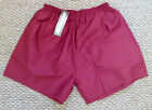 MENS BOYS SHORTS MAROON FOOTBALL SCHOOL SPORTS SIZES 30 -32 & 34 - 36