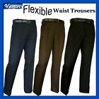 """Mens Expandable Elasticated Waist Formal Dress Smart Casual Trousers 30"""" - 42"""""""