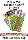 School Teacher Scratch n Sniff Reward Stickers  - Choose From 12 Smell Varieties