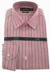 Lauren by Ralph Lauren Mens Non-Iron Cotton Striped Dress Shirt - Pink
