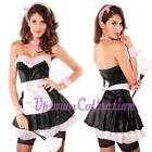 Ladies French Maid Fancy Dress Costume +FREE Feather Duster size 10 12 14 16