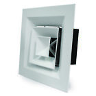 4 Way Blow Diffuser (White) - Ventilation, Supply, Ducting
