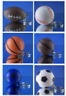 6 DIFFERENT NEW BALL KEYCHAINS FOOTBALL BASEBALL BASKETBALL SOCCER YOU PICK ONE