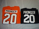 CHRIS PRONGER PHILADELPHIA FLYERS REEBOK MAJESTIC JERSEY TEE