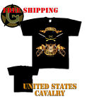 Tee Shirt Black Ink Design UNITED STATES CAVALRY 100% Cotton New T Size Small