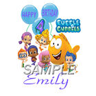 BUBBLE GUPPIES 4TH BIRTHDAY T-SHIRT IRON ON TRANSFER 3 SIZES!