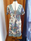 WAREHOUSE FABULOUS PRINTED BOHO SUMMER DRESS GREEN GREY NAVY ORANGE BROWN 6 NEW
