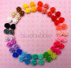 ?FUNKY VINTAGE 10mm ROSE EARRINGS 28 COLOURS CUTE KITSCH RETRO BOHO CHIC EMO?