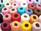 YOU PICK. MANY COLORS! #10 CROCHET COTTON THREADS YARN KNITTING CLEA125. 136 yds