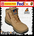 New Mongrel Work Boots ZIP UP Wheat Steel Toe Cap/Safety Lace Up Low Cut 261050