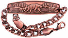 Bear Solid Copper Bracelet Handmade Jewelry Chain Arthritis Pain Relief Therapy