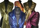 Silk Mix Iridescent Wrap Stole Shawl Silky Scarf Evening Wedding Bridal Summer
