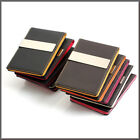 Square Pattern Money Clip Wallet Card Holder-Black