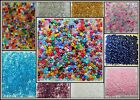 400+ 2mm-2.5mm Size 11/0 Glass Seed Beads U Pic Red Blue White Green Purple
