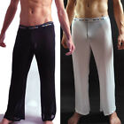 Super Soft Mens Long Leg Casual Pants Trousers See-through Mesh Underwear New