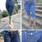 CAPRIS from LA IDOL JEANS  white-stich FAST-FREE SHIPPING 1208C