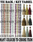 Henley Designer Tie Back / Crystal Tassel For Curtain Fabric - Sold Individually