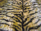 LUXURY Animal Faux Fur Fabric Material GOLD TIGER