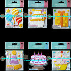 JOLEES Birthday Happy Party Hat Cakes Balloons Stars Confetti Candles Gift Box