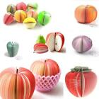FRUIT VEGETABLE FOOD SHAPED MEMO PAD WRITING STATIONARY NOTEPAD - CUTE GIFT IDEA