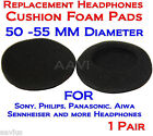 "50MM Replacement 2"" Foam Pad Ear Cushion Cover For  Aiwa Sony Philips Headphones"