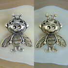 35x42mm Silver Bronze 3D Bee Charms Pendant