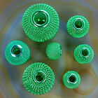 Green Findings Craft Spacer Mesh Round Beads 30,25,20,18,16,14,12mm Pick