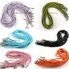 30pcs Braided Mixed Leather Necklace Cord With Lobster Clasp 46cm Pick Color