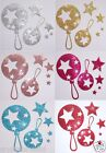 FABRIC SEQUIN kids RATTLE TOY IRON-ON DIY CRAFT TSHIRT TRANSFER PATCH APPLIQUE