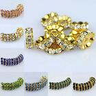 WHOLESALE LOTS CRYSTAL CURVE EDGE GOLD FINDINGS LOOSE SPACER BEADS 4X10MM