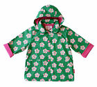 TOBY TIGER Green Pea Flower Cotton Lined Raincoat Girls Rain Jacket Coat BNWT