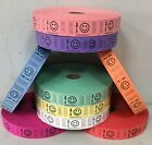 Roll of 2000 Tickets Smiley Face Smile 8 Colors Raffle Fun Fair Carnival New