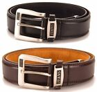 Mens Leather Lined / Bonded Jeans Belt 40mm Width Silver Tip New BNWT Ossi 5055