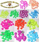 fluorescent STUD DOME IRON-ON BEAD TRANSFER EMBELLISHMENT CARD MAKING SCRAPBOOK
