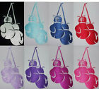 FABRIC SATIN SILK BOXING GLOVE IRON-ON KID CRAFT PARTY T-SHIRT TRANSFER PATCH
