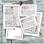 Tnco vintage inspired, wedding invitations black and red wedding invite sample