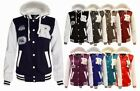 NEW LADIES BASEBALL HOODED JACKET POCKETS BUTTONED HOODY WOMENS TOP SIZE 8-14