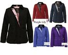 New Ladies Quilted Padded Button Zip Jacket Womens Coat Top Winter 8 10 12 14 16