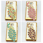 1 bling bow flower peacock diamond case cover FOR samsung galaxy s2 SII i9100