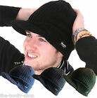 MENS LADIES WOMENS BEANIE PEAKED CAP WINTER KNIT THINSULATE THERMAL WINTER HAT