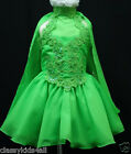 C4 BABY GIRL PAGEANT FLOWER GIRL PARTY SHORT Glitz DRESS 2 3 4 5 6 7 LIME GREEN