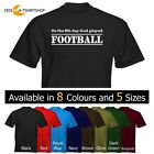 *NEW* Mens T-Shirt On The 8th Day God played Football Size and Colour Options