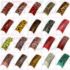 100 Cheetah Acrylic Pre-Designed Nail Tips 25 Designs to Choose From! UK Seller