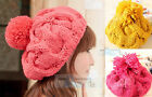 Fashion Popular Girls autumn and winter Lovely knitting wool knitted Cap Hat P36