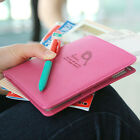 6 Colors Lady Women's Muti-function PU Leather Travel Passport bag Purse Wallet