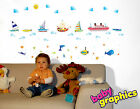 Boats,  ships,  ocean  sea life wall stickers scene - removable - babygraphics