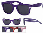 New Colour Frame Diamante Wayfarer Sunglasses Dark Tint Lens 80s Retro BNWT