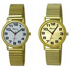 Gents Super Bold 3 Hand Stainless Steel Plated Metal Expander Bracelet Watch