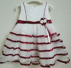 Baby Girls Christmas Red Ivory Christening Party Wedding Bridesmaid Dress 0-24m