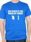 BUS DRIVER BY DAY NINJA BY NIGHT - Buses / Travel / Coaches Themed Men's T-Shirt